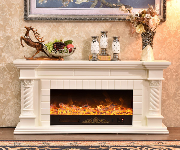 Frankfurt long electric fireplace - photo