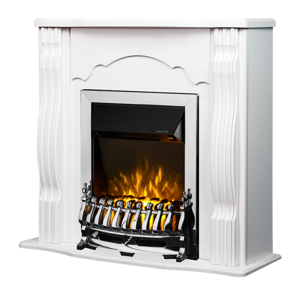 Clasic & Galileo silver electric fireplace - photo 1