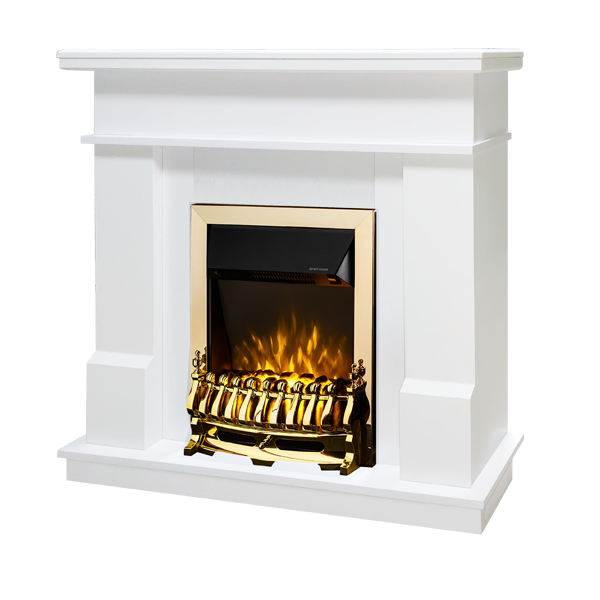 Rodos & Galileo gold electric fireplace - photo