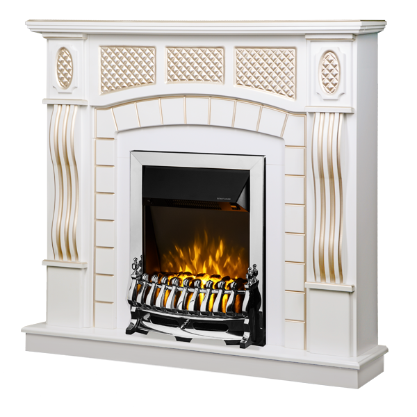 Amsterdam & Galileo silver electric fireplace - photo