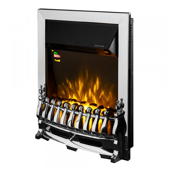 Galileo silver electric fireplace - photo