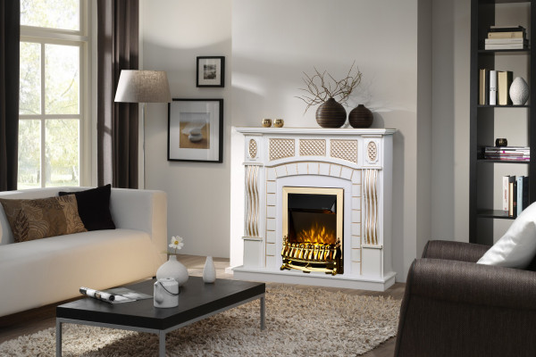 Amsterdam & Galileo gold electric fireplace - photo