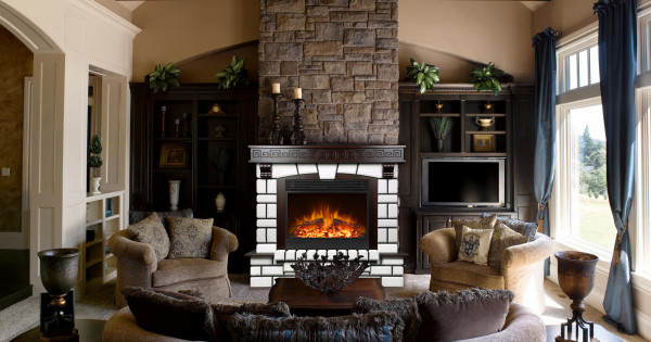 Nazarii & Mirabella electric fireplace - photo