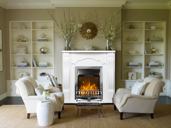 Clasic & Galileo silver electric fireplace - photo 3