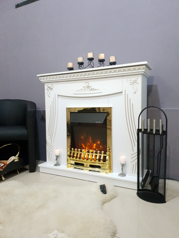 Napoli & Galileo Gold electric fireplace - photo
