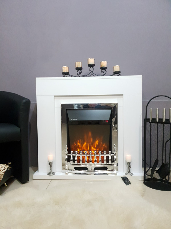 Agnes & Galileo silver electric fireplace - photo 3