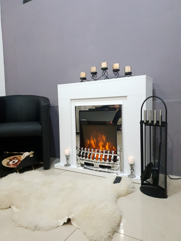 Agnes & Galileo silver electric fireplace - photo 4