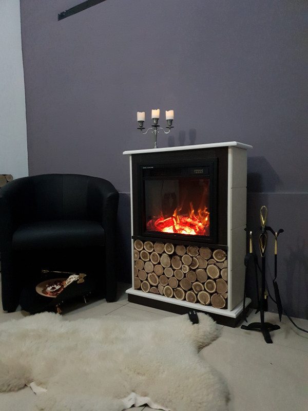 Andreea & Dionis electric fireplace - photo