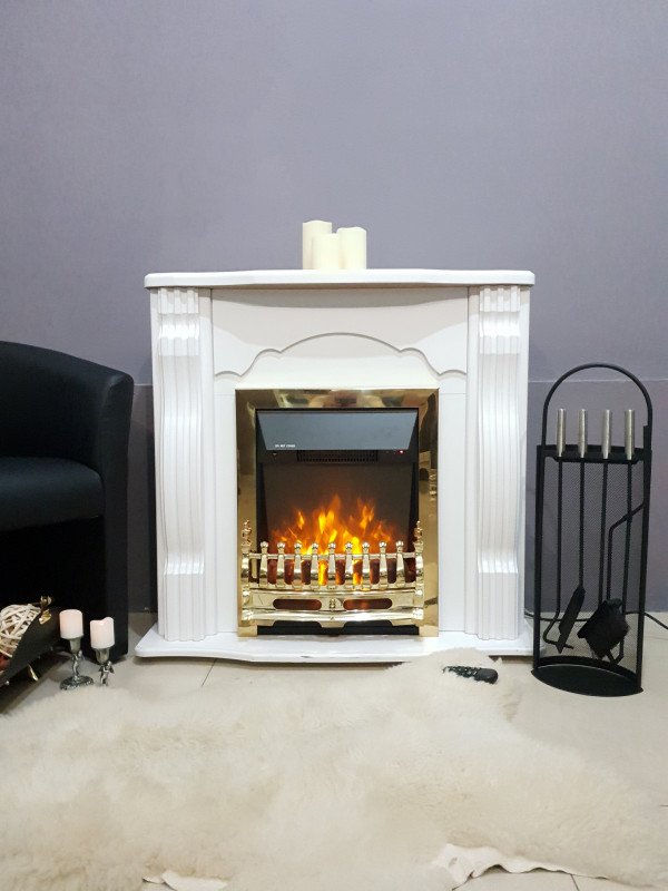 Clasic & Galileo gold electric fireplace - photo