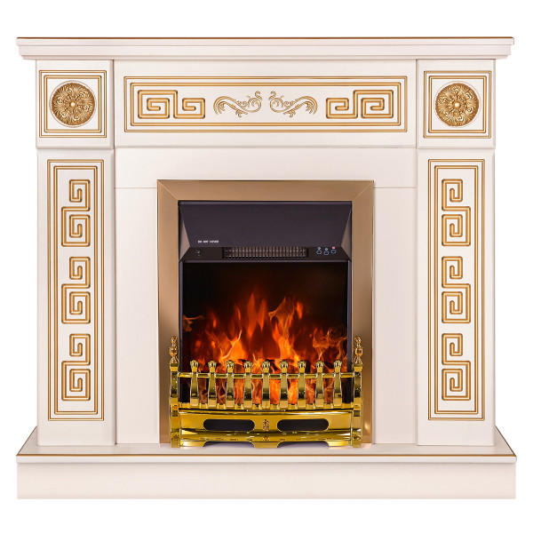 Versailles & Galileo gold electric fireplace - photo 2
