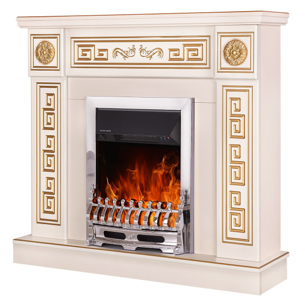 Versailles & Galileo silver electric fireplace - photo