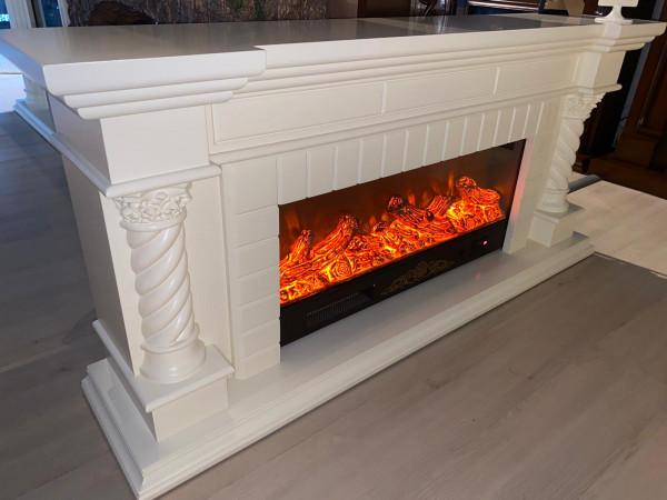 Frankfurt long electric fireplace - photo