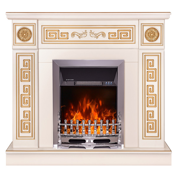 Versailles & Galileo silver electric fireplace - photo 2