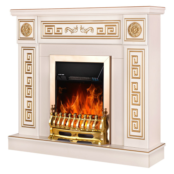 Versailles & Galileo gold electric fireplace - photo 1