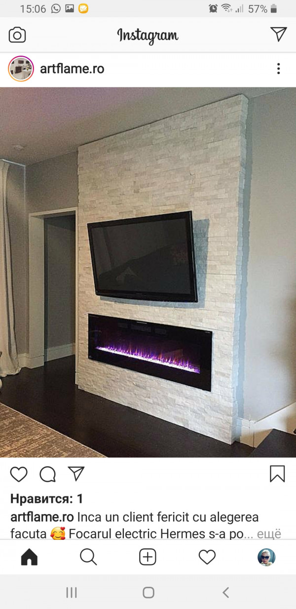 Hermes electric fireplace - photo