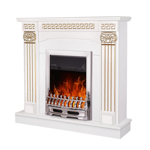 Calisto & Galileo silver electric fireplace - photo