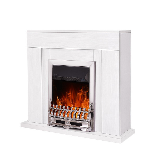 Agnes & Galileo silver electric fireplace - photo