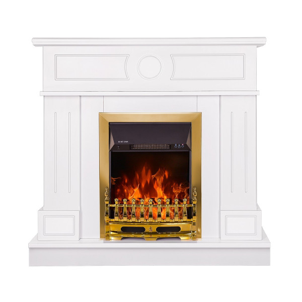 Ambasador & Galileo gold electric fireplace - photo