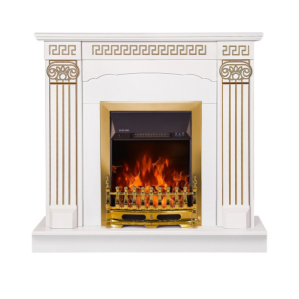 Calisto & Galileo gold electric fireplace - photo