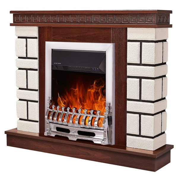 Nazarii mini & Galileo silver electric fireplace - photo