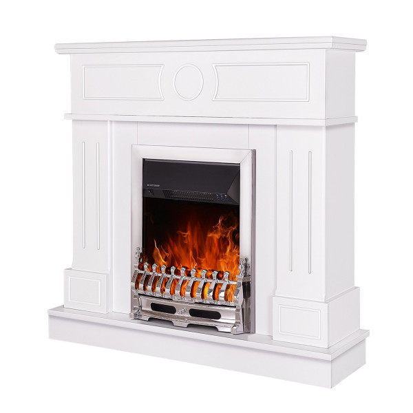 Ambasador & Galileo silver electric fireplace - photo 1