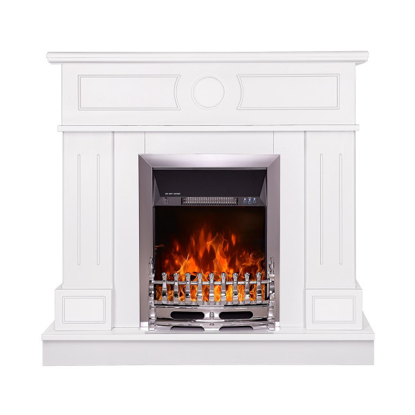 Ambasador & Galileo silver electric fireplace - photo 2