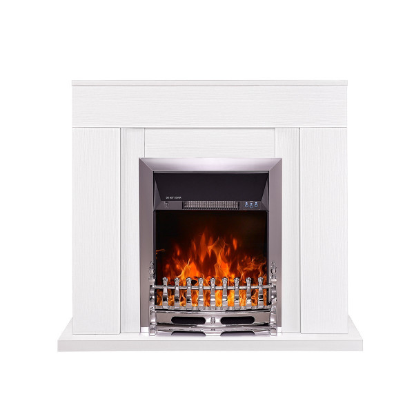 Agnes & Galileo silver electric fireplace - photo 2
