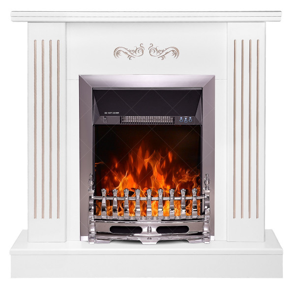Smile & Galileo silver electric fireplace - photo 2