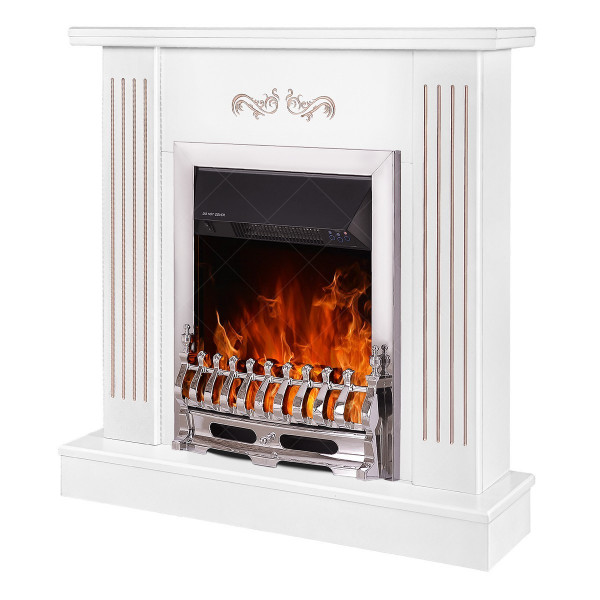 Smile & Galileo silver electric fireplace - photo
