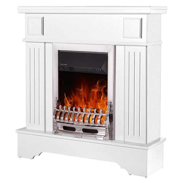 Marina Extra & Galileo silver electric fireplace - photo 1