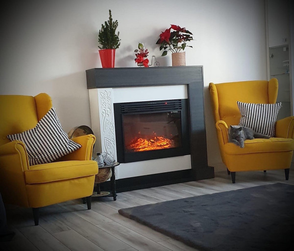 Neon & Mirabella electric fireplace - photo