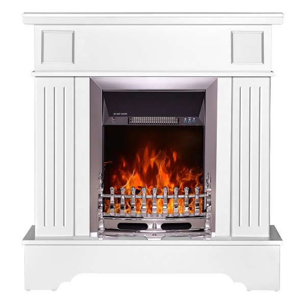 Marina Extra & Galileo silver electric fireplace - photo