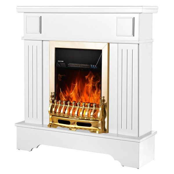 Marina Extra & Galileo gold electric fireplace - photo