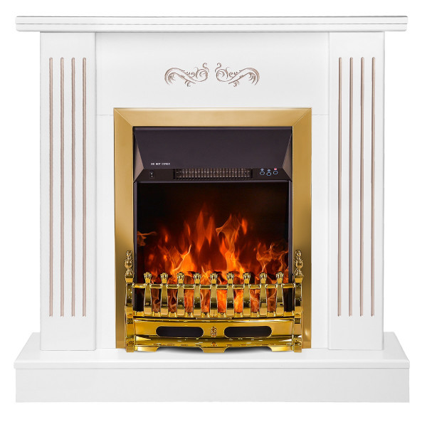 Smile & Galileo gold electric fireplace - photo