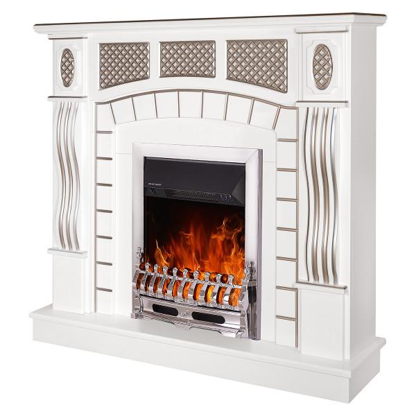 Amsterdam & Galileo silver electric fireplace - photo