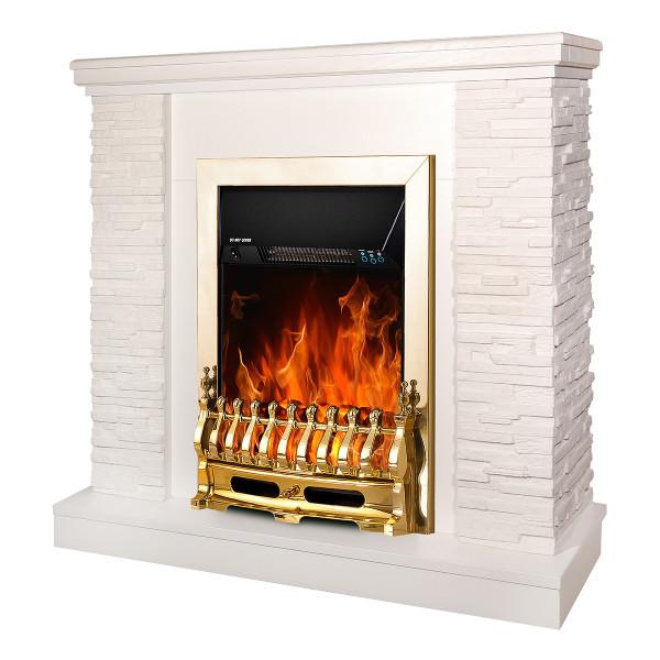Rock & Galileo gold electric fireplace - photo